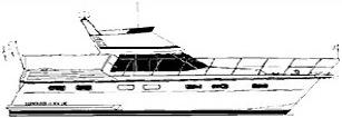 Motoryacht Boorncruiser Deluxe Seitenansicht