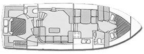 Motoryacht Boorncruiser Deluxe Draufsicht